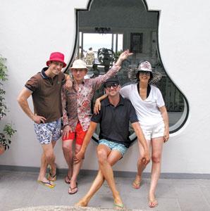 Jonathan Adler, Simon Doonan, Jonathan Skow and Trina Turk in Capri