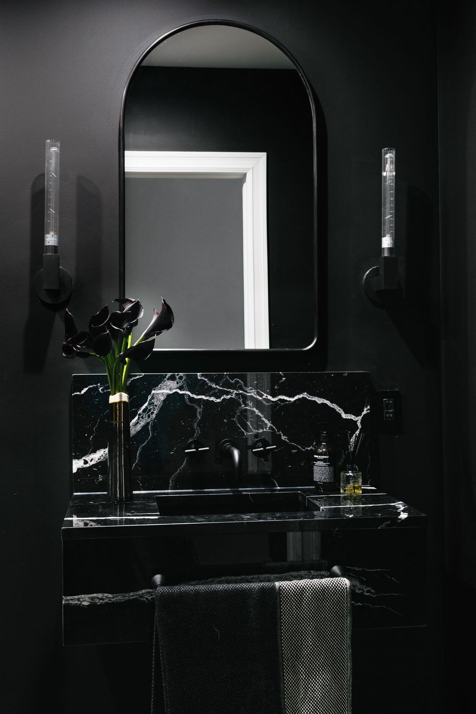 Black bathrooms -