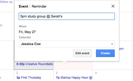 Use google calendar to capture EVERYTHING you need to remember for school, work, and your social life. Keeping it all in one place allows you to manage your schedule without stress. No more scribbling notes on spare pieces of paper and forgetting them. Create a system that works and that will automatically remind you of what you need to remember. Check out the blog post for more time-saving tips for college students that will make you a better student without effort.