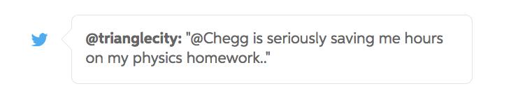 chegg study saves students hours on homework