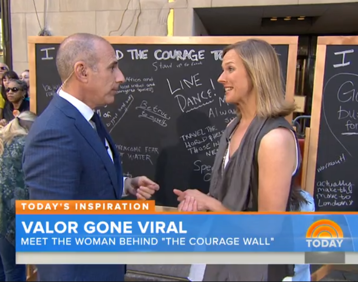 The Courage Wall:  TODAY Show, May 2015