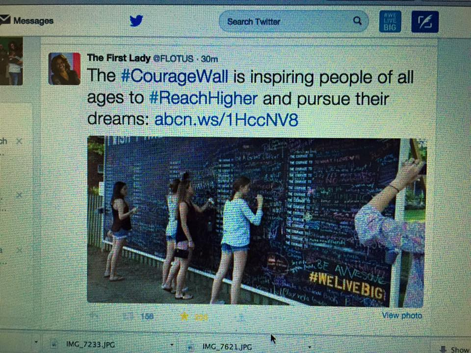 Courage Wall: Tweet by Michelle Obama