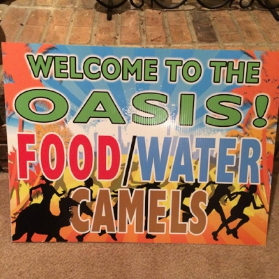 Joe Gow, Sandy, Scott, and Tina will welcome you to the Oasis at mile 73!