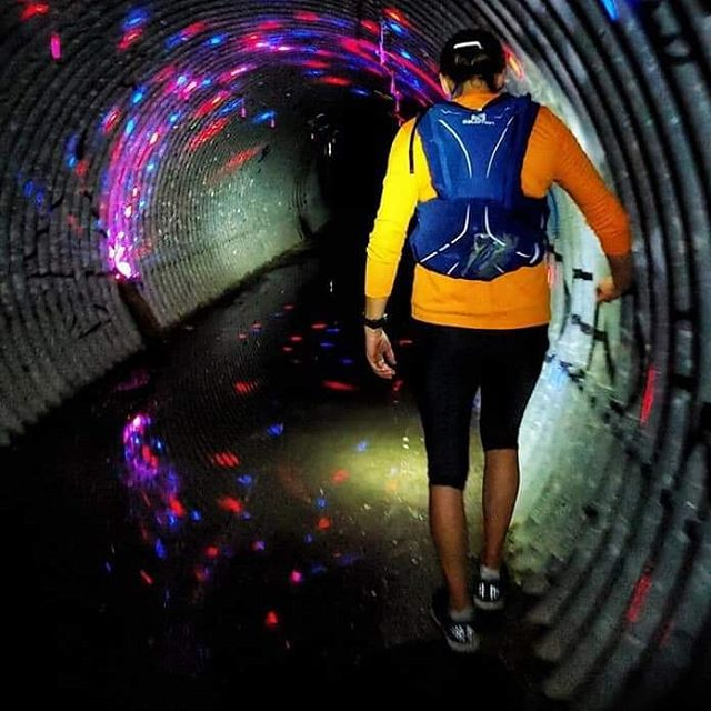 How cool is this? The tunnels of Hennepin Hundred. We LOVE how the volunteers lit them up for the runners!  Photo Credit: If you took this photo, thank you and let us know who you are. We LOVE it!