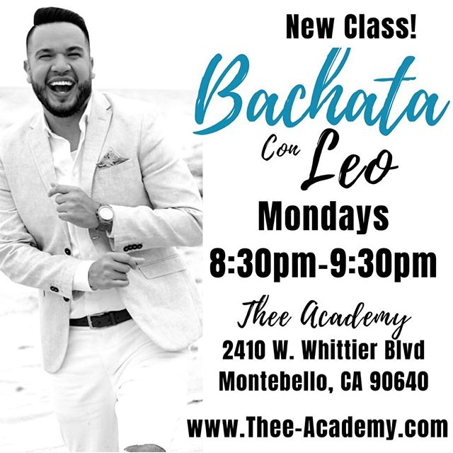 Join us tonight for Bachata Dance Class at Thee Academy! Walk Ins welcome! #theeacademy #dance #bachata