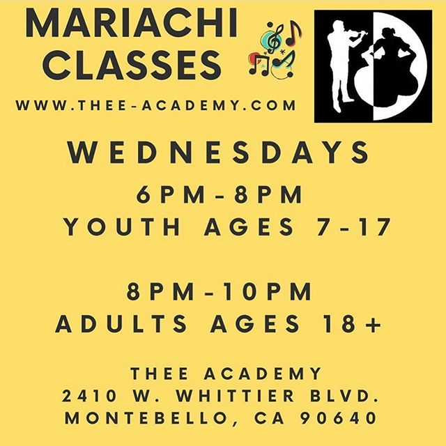 It's not too late to enroll. Come check out our Mariachi classes tonight at @thee_academy #mariachigaribaldidejaimecuellar #theeacademy #mariachi #mariachiclasses #musicclasses #folklorico #mariachieducation