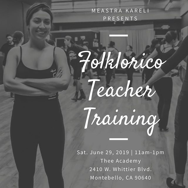 @karelidancing will be giving a Folklorico Teacher Training Seminar on Saturday, June 29th! This 2 hour class will teach you how to plan and teach an efficient Folklorico class for students of all ages and levels. To enroll swipe up in our story or inbox us for the link. For contact info visit Thee-Academy.com #balletfolkloricodelosangeles #maestrakareli #folkloricoteachertraining #folklorico #danceteachertraining #folkloricoseminar #balletfolklorico #dance #seminar #blog #folkloricoblogger #folkloricoblog #theeacademy