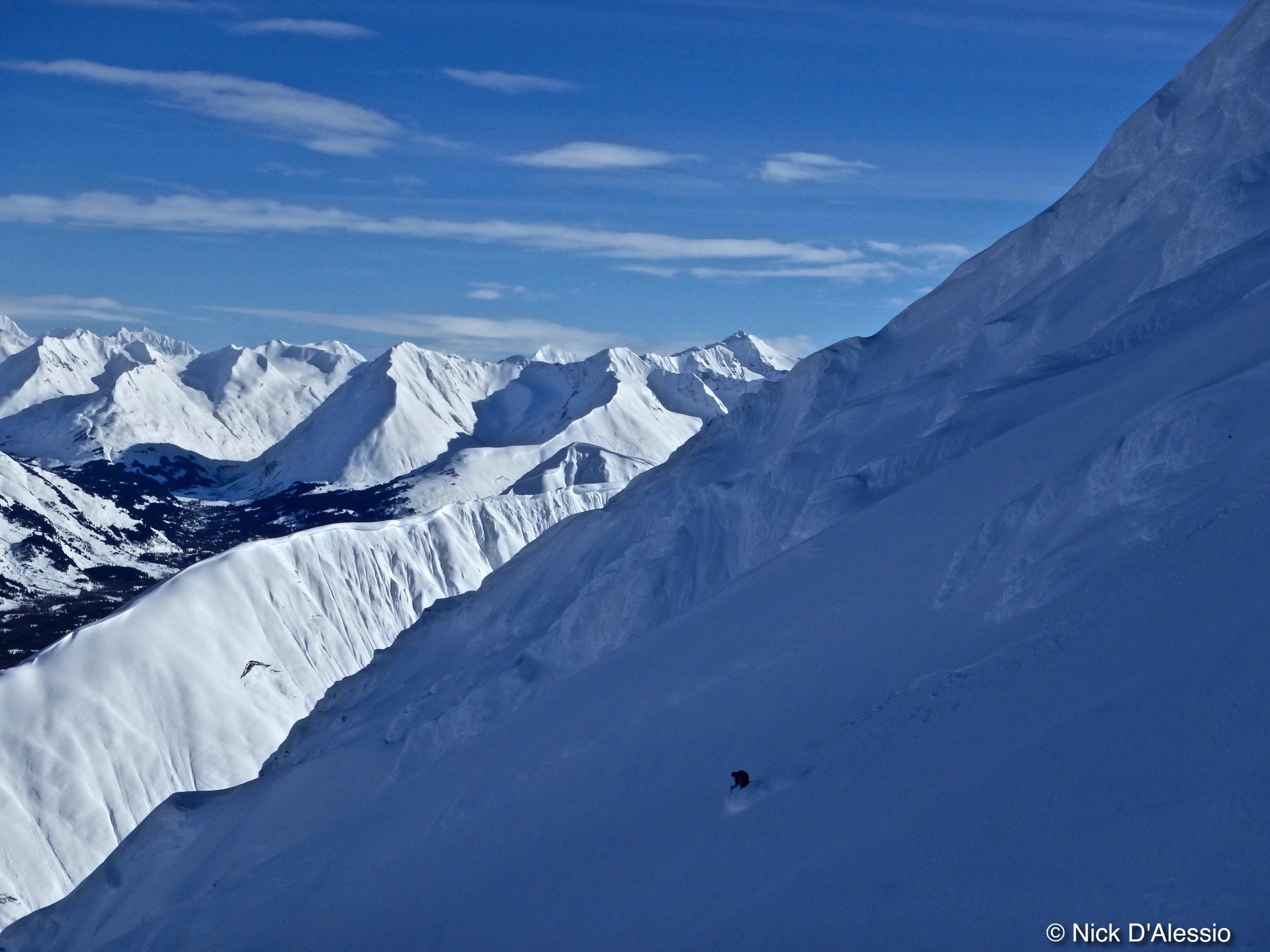 Skiing in Turnagain Pass Alaska