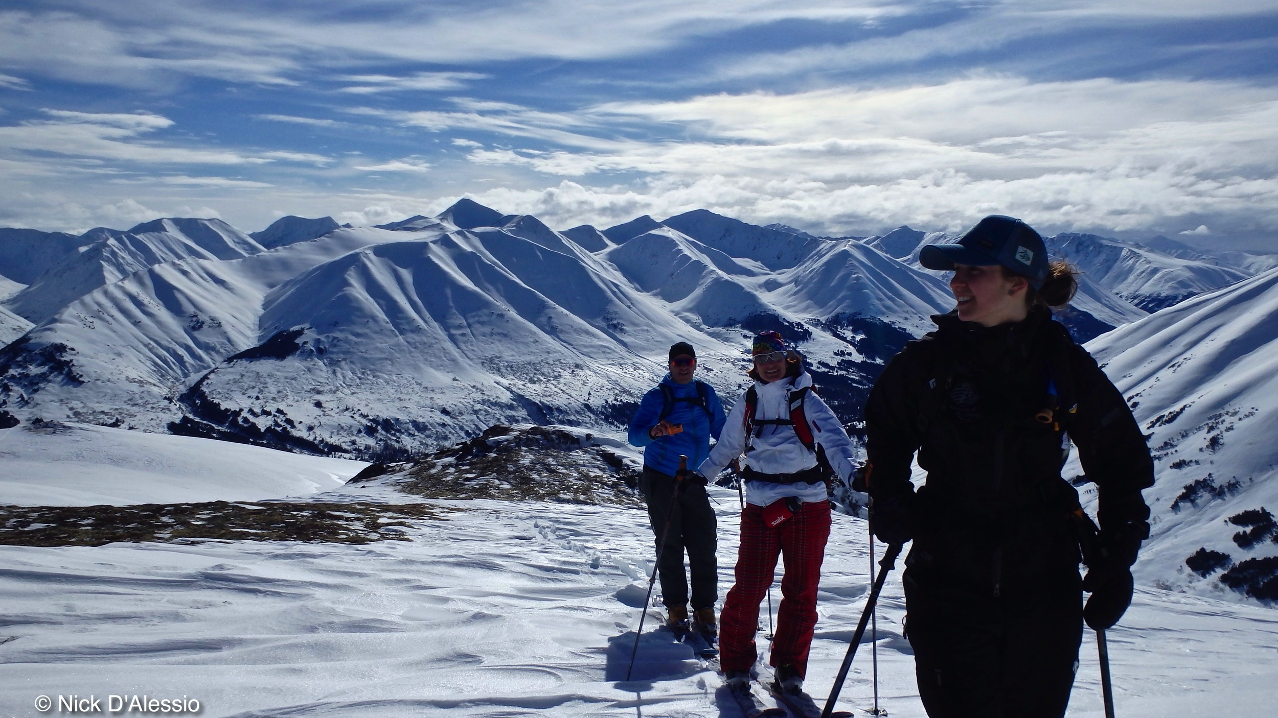 Family backcountry skiing in Alaska with Remarkable Adventures