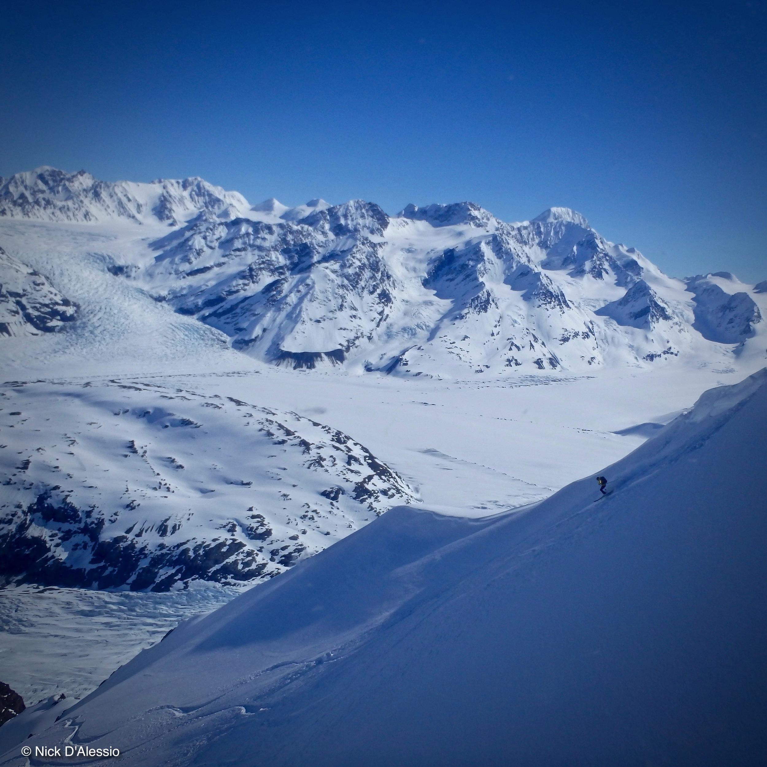 Skiing in Alaska, Chugach Mountains