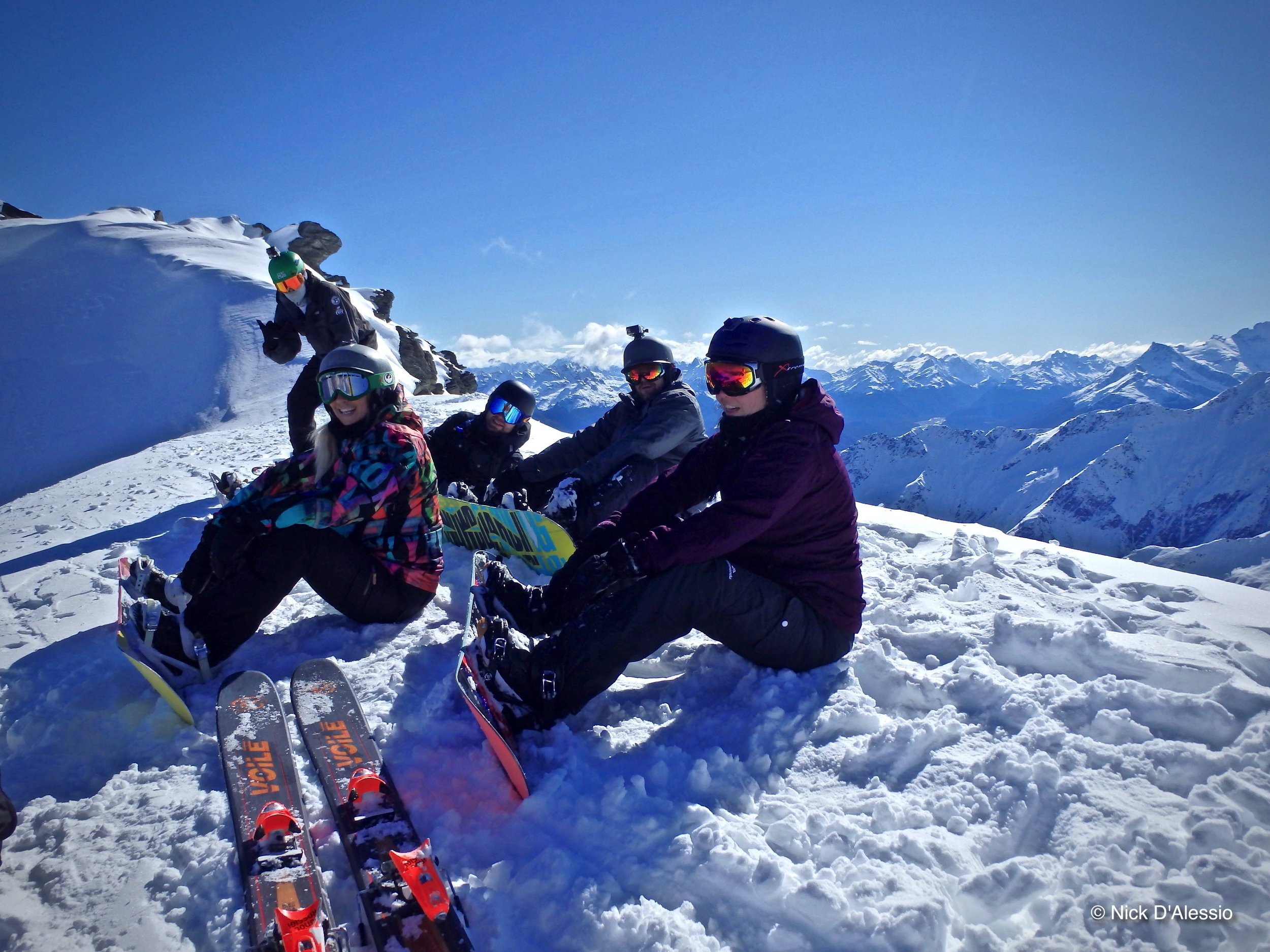 Skiing and snowboarding. Photo by Ski Guide Nick D'Alessio