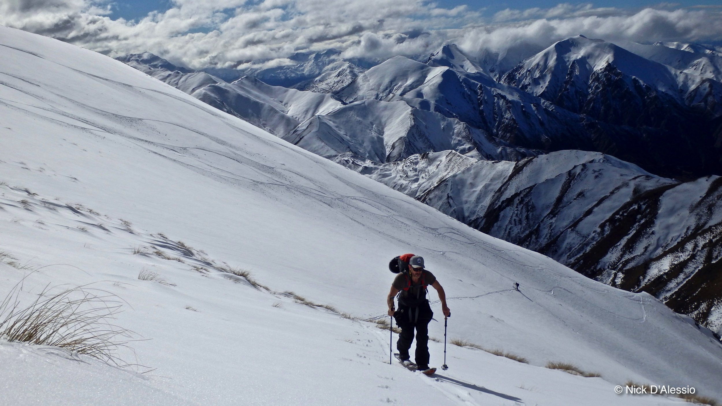 backcountry skiing with ski guide Nick D'Alessio, Remarkable Adventures