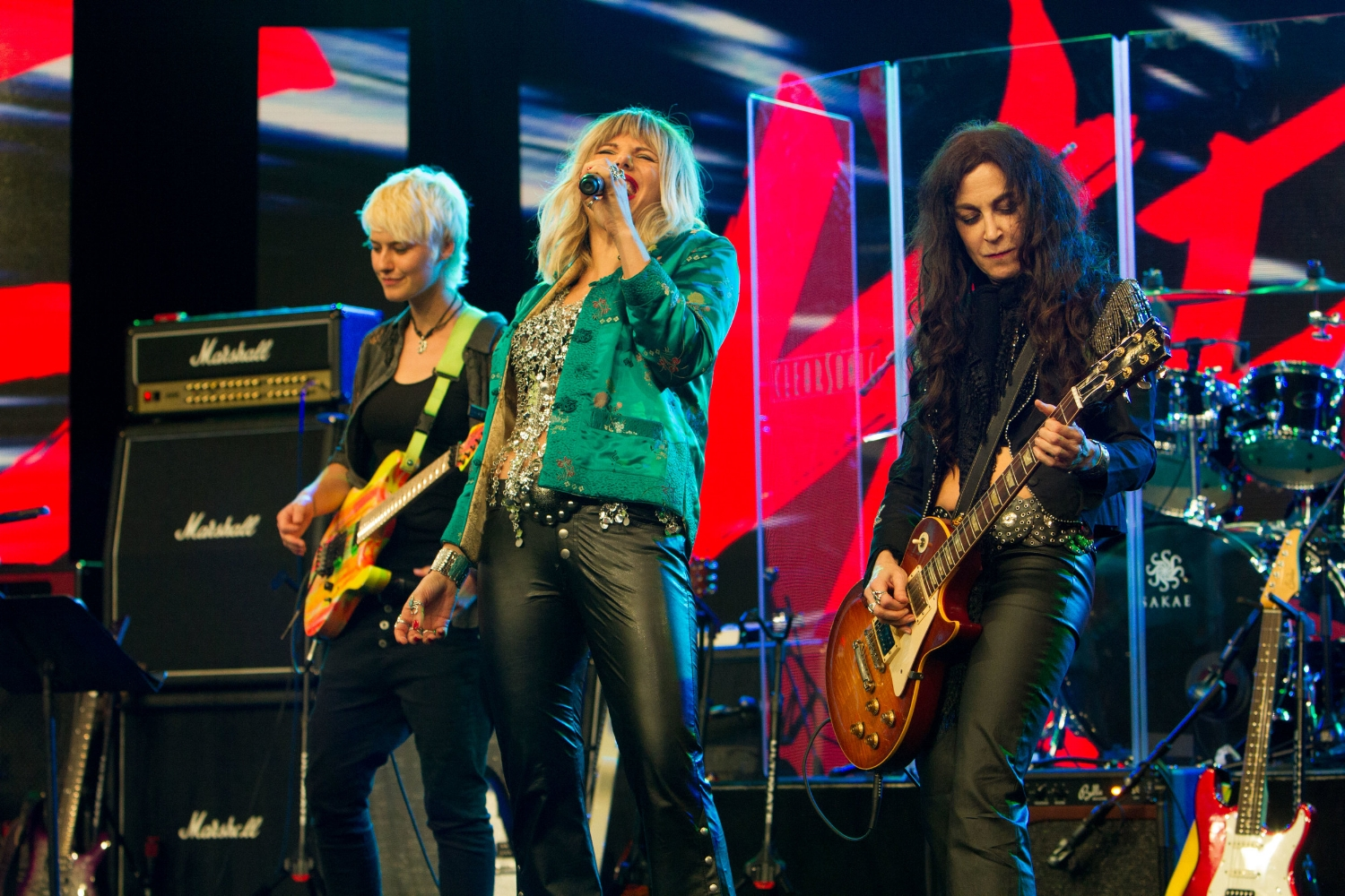 Marlain Angelides with Steph Paynes, Lez Zeppelin and Yasi Hofer