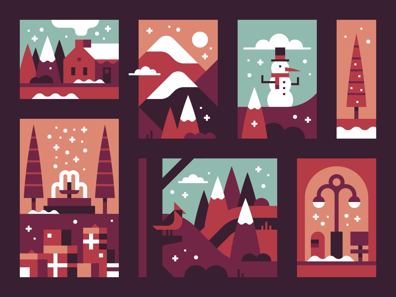 2017 holiday card by Alex Pasquarella