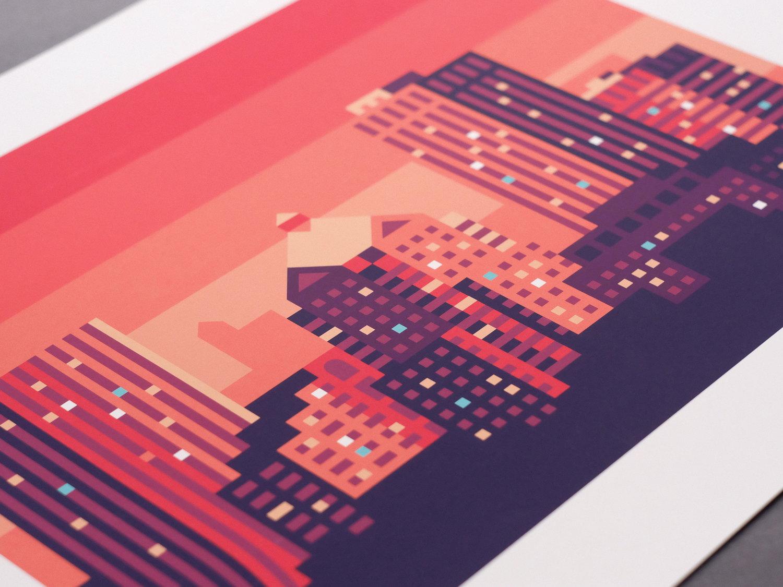 Rochester Skyline Print by Alex Pasquarella