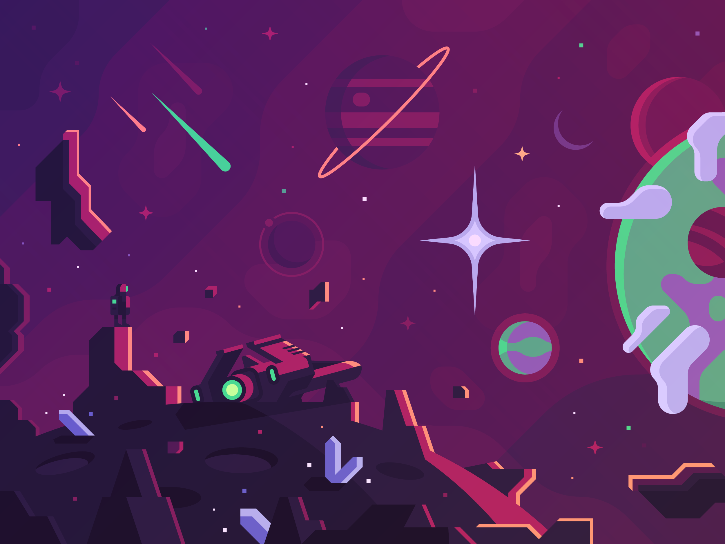 Dots - Space concept art and game design by Alex Pasquarella