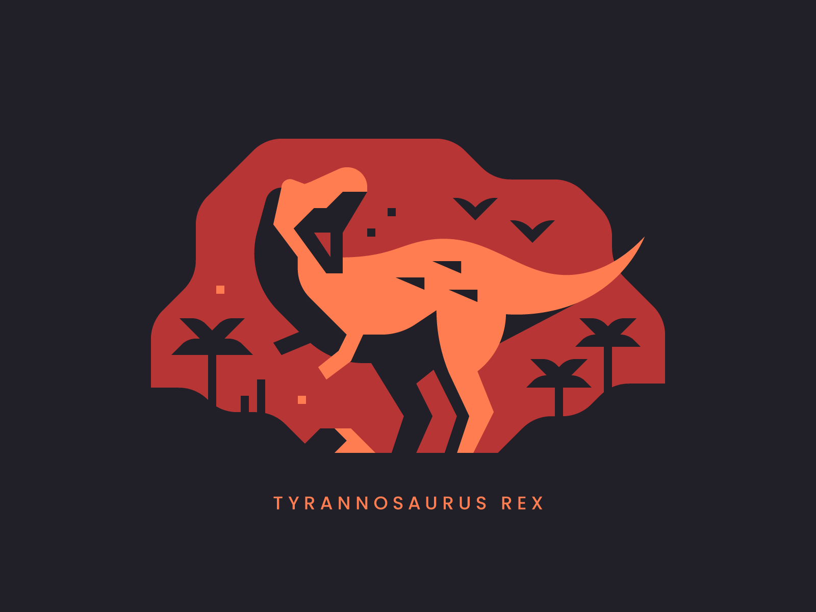 Dinosaur illustrations and prints by Alex Pasquarella, Canopy