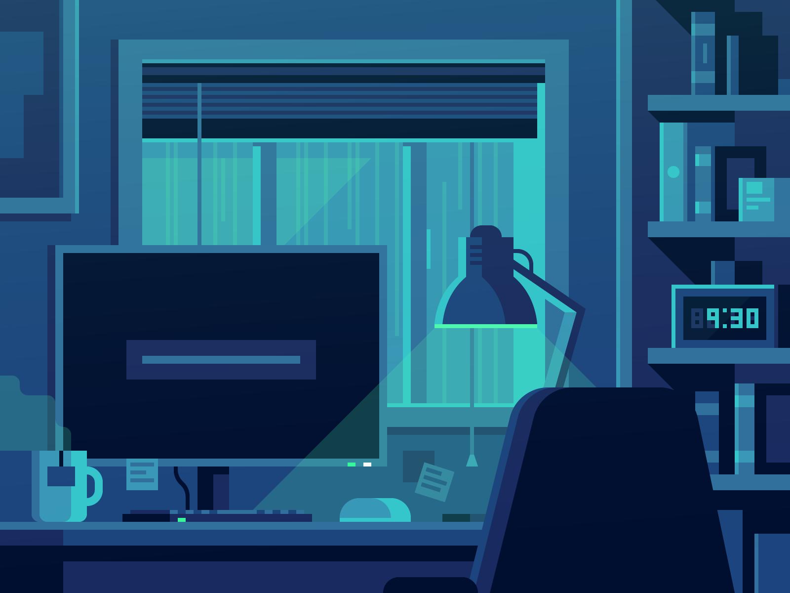 Rainy Night illustration by Alex Pasquarella