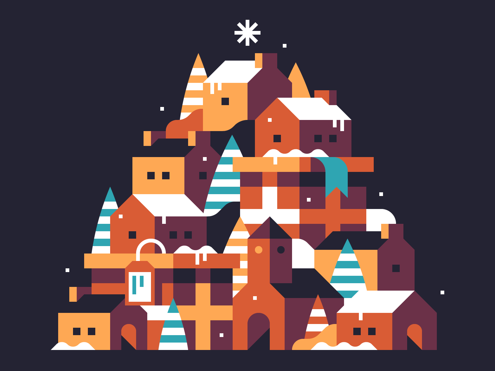 2018 Holiday Card illustration by Alex Pasquarella