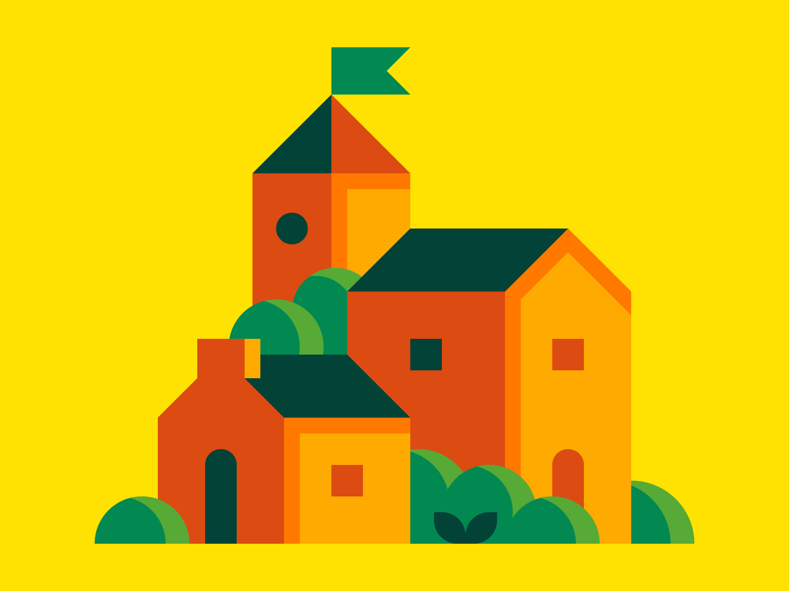 Little Town illustration and design by Alex Pasquarella