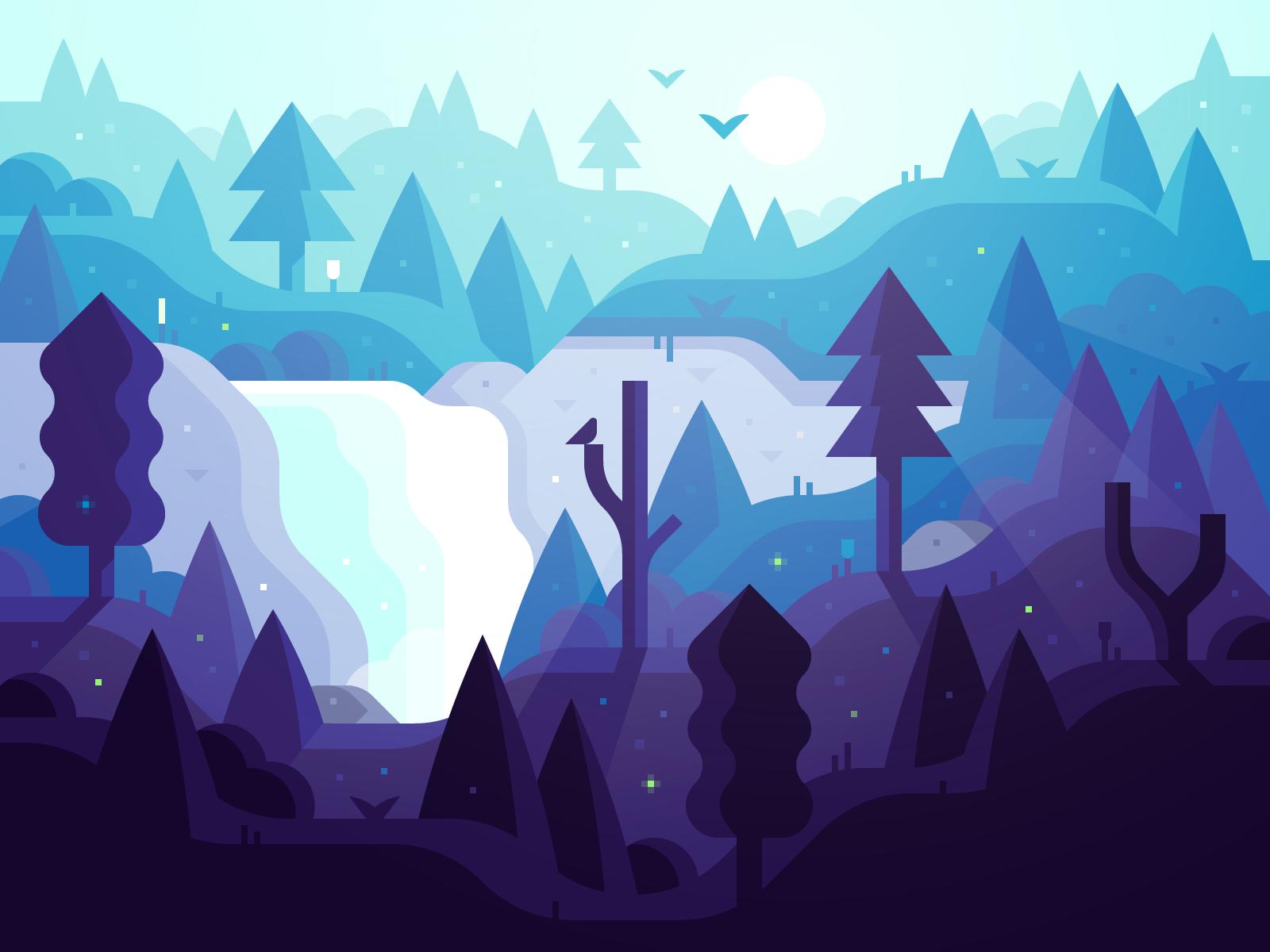Magic Forest (v3) illustration by Alex Pasquarella