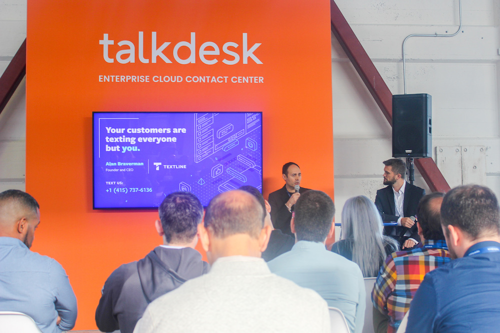 Textline's Alan Braverman and Talkdesk's Patrick Russell discuss business text messaging.