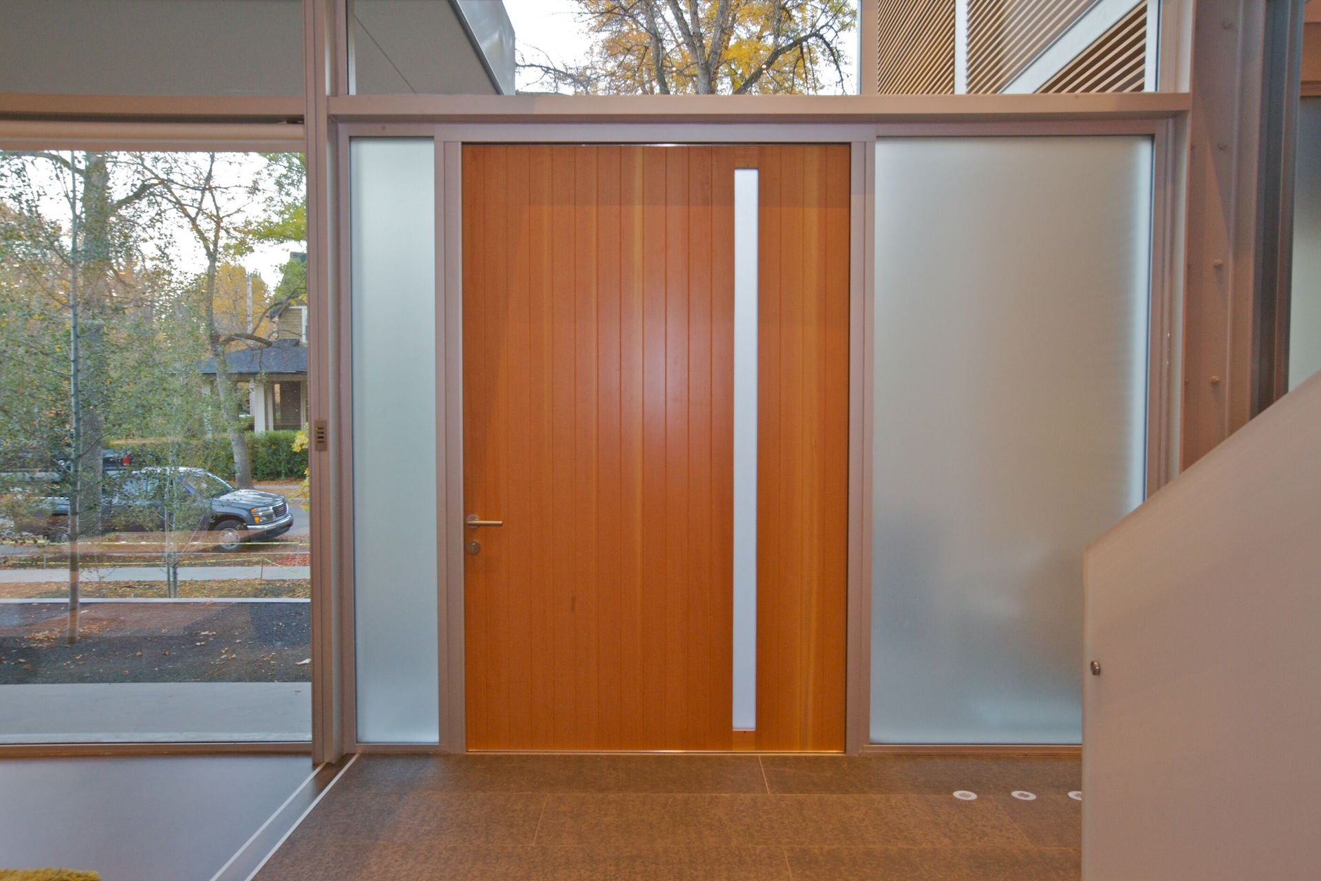 Wood pivot door