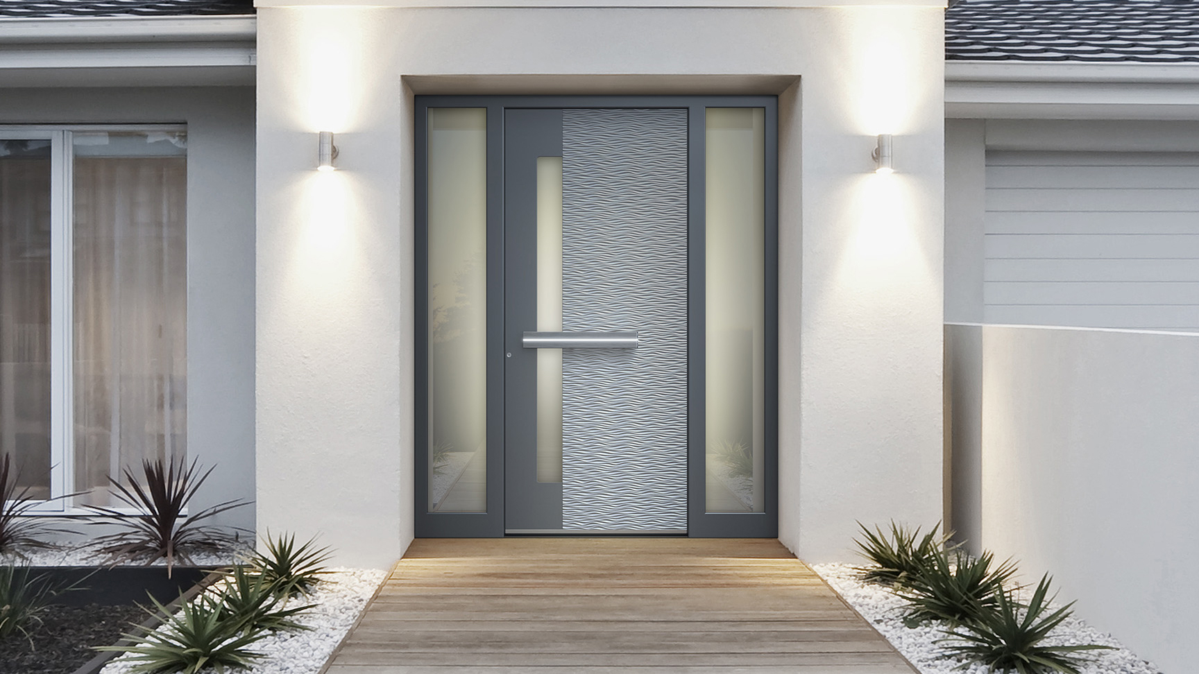 """Entrance doors   When the word """"best"""" applies to every characteristic, it's a product that's as good as it gets. The best insulated aluminum door with the thickest profile creates an unmatched feeling of security and comfort. Immaculate craftsmanship adds perfection to any design, from an old country look to a high-tech flat panel. And just like everything TAG, these doors can reach enormous dimensions."""