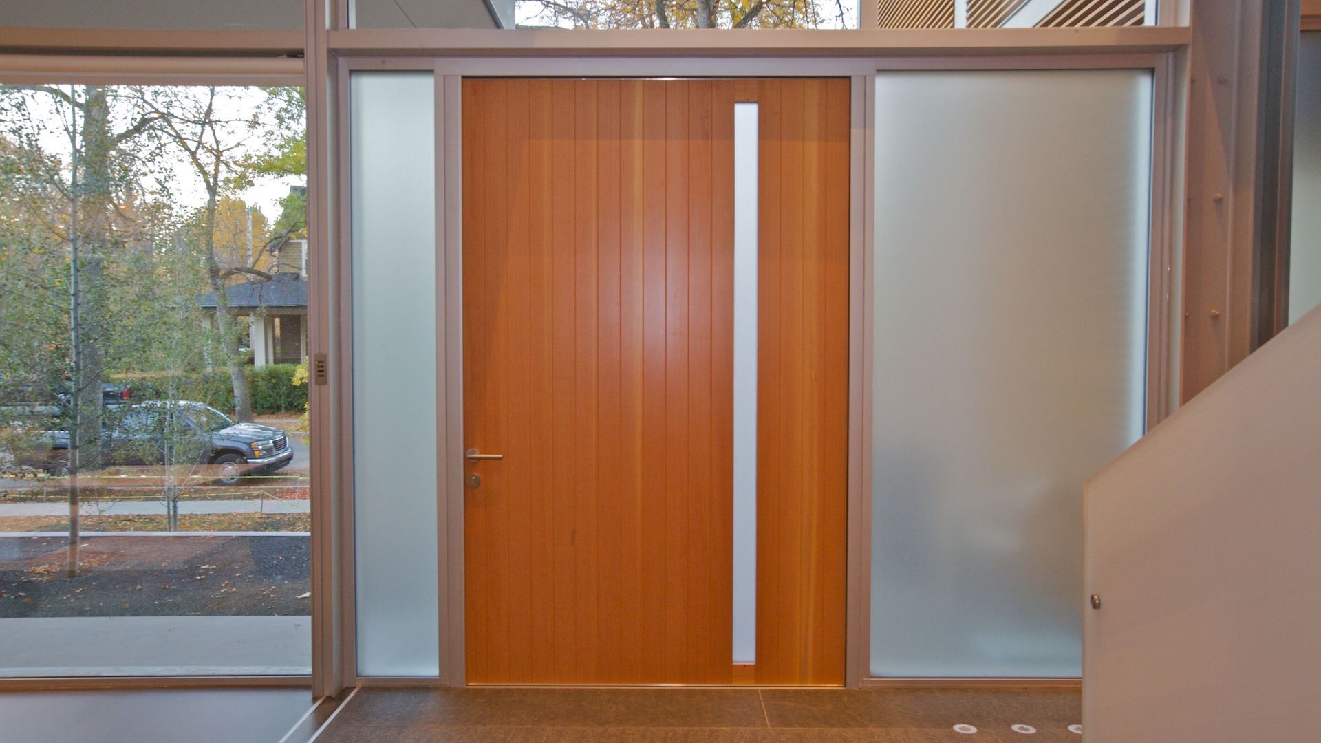 Pivot doors   There's lots of design freedom in the concept of a pivot door. At TAG, we have the capability to fulfill every possible variation of it. Highly desirable offset pivot doors are available as a factory built option. Inward and outward opening, different inner and outer colors — every option comes without compromise in thermal comfort, safety and building code adherence.