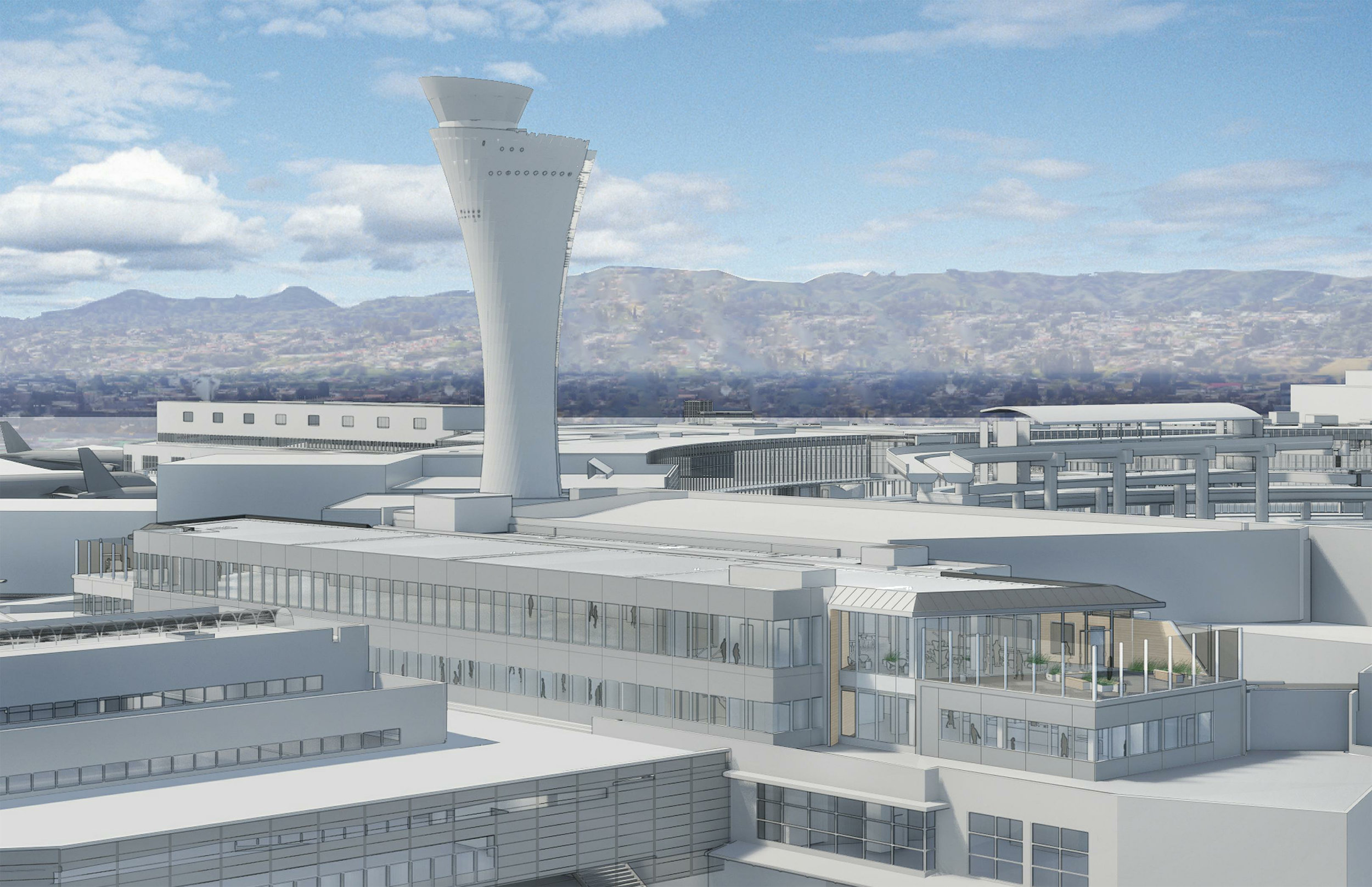 SFO, Terminal 2 Air Traffic Control Tower Demolition and Terminal Improvements