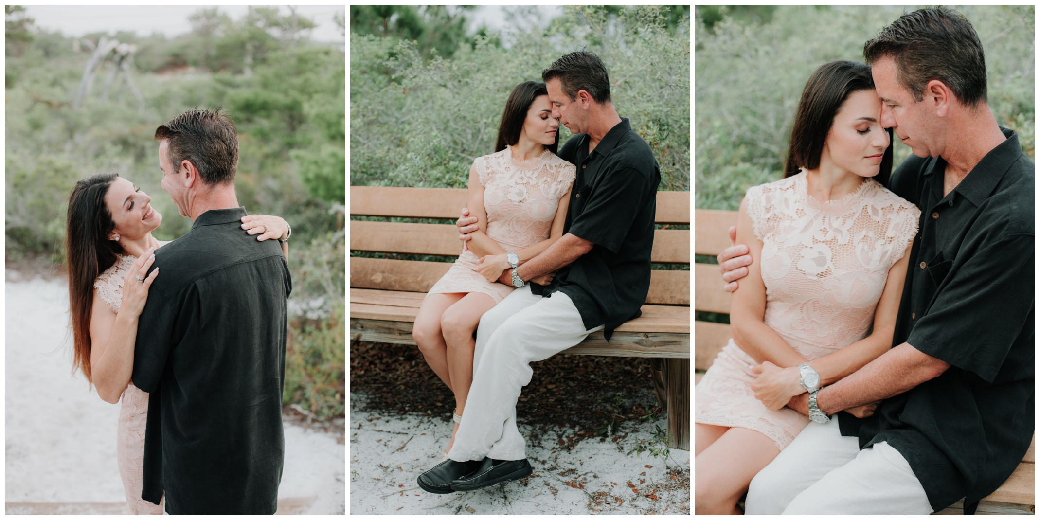 Romantic engagement photos taken by South Florida Wedding Photographer
