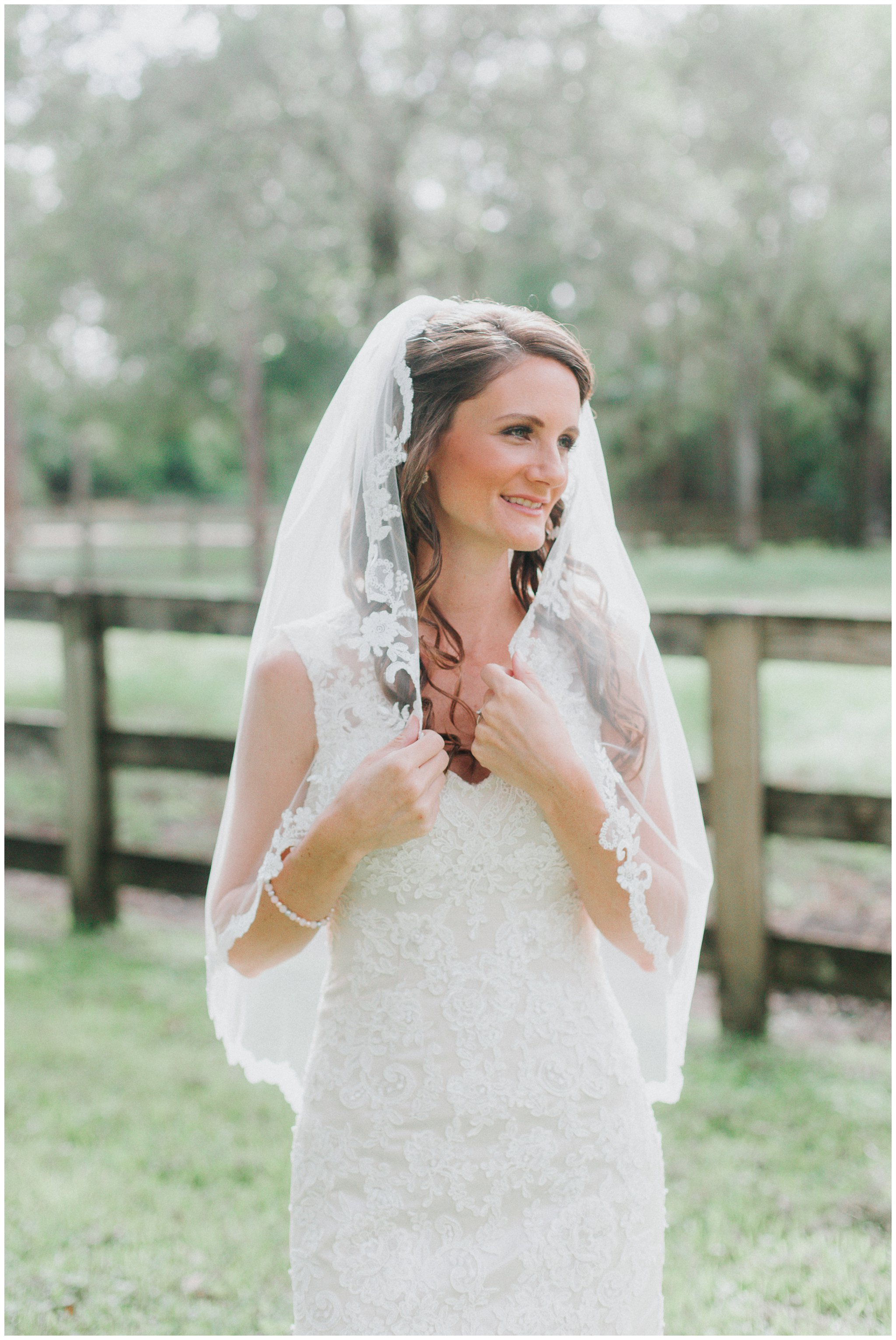 Check out the detail on her lace wedding dress! So beautiful!