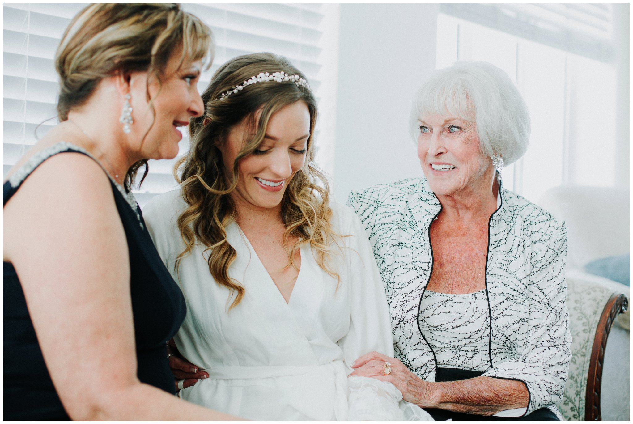 Three generations here. It was important for Christine to incorporate her mother and grandmother in her wedding photos. I just love that.