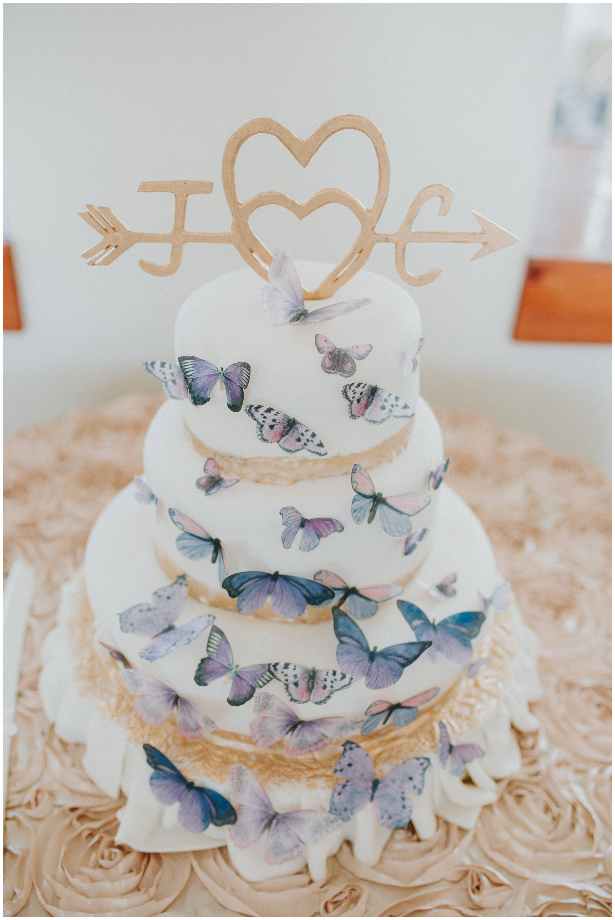 Christine made this cake topper from carved wood! Amazing!