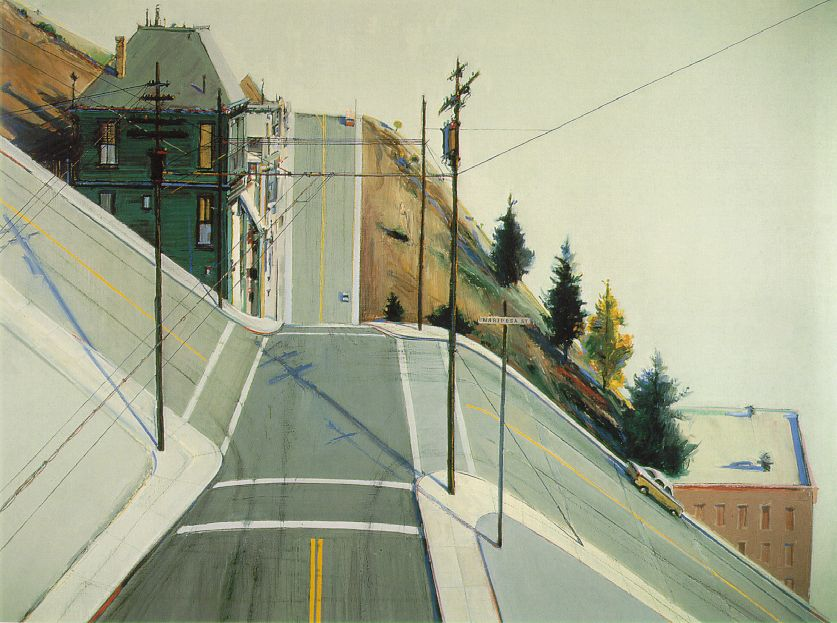 THE TOUCH, THE FEEL, THE FABRIC OF SAN FRANCISCO!!!!!   ___________________________________________    goldenfiddle :      Wayne Thiebaud ,  24th Street Intersection , 1977