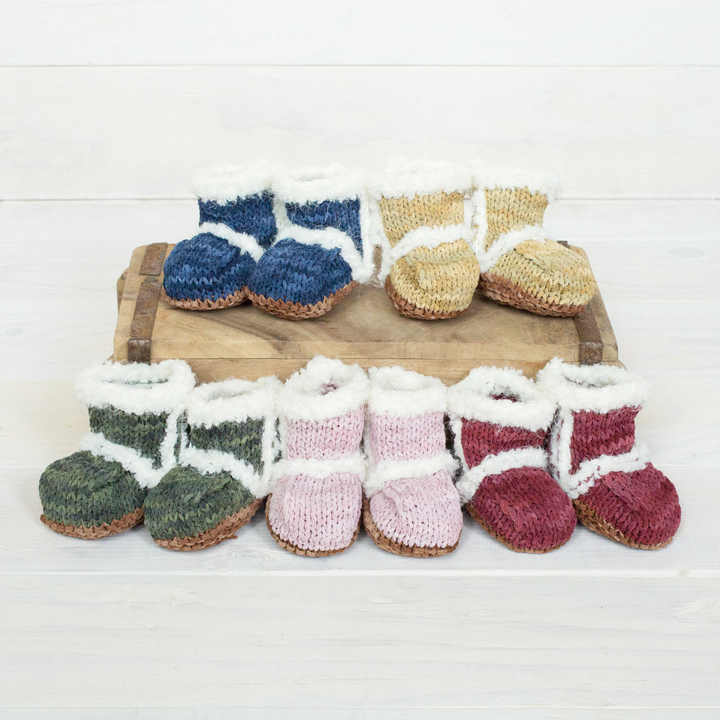 Hand Knit Baby Uggs