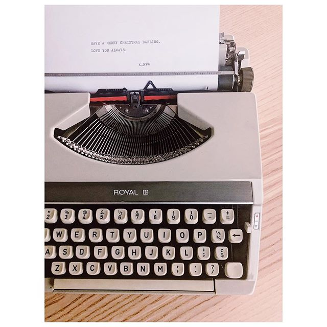 This Xmas I imposed a $50 limit on presents, and my better half had to haggle with someone to get me this working, Japanese made typewriter. I love it! Thanks for your presence as well as your present. @lettersbyfra. . . . #royaltypewriter #typewriter