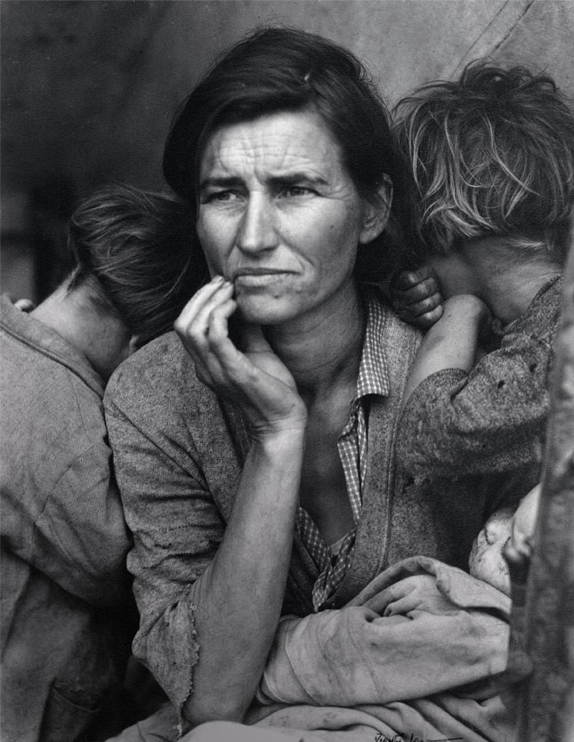 Dorothea Lange,Migrant Mother, Nipomo, California, 1936 ©The Dorothea Lange Collection, the Oakland Museum of California