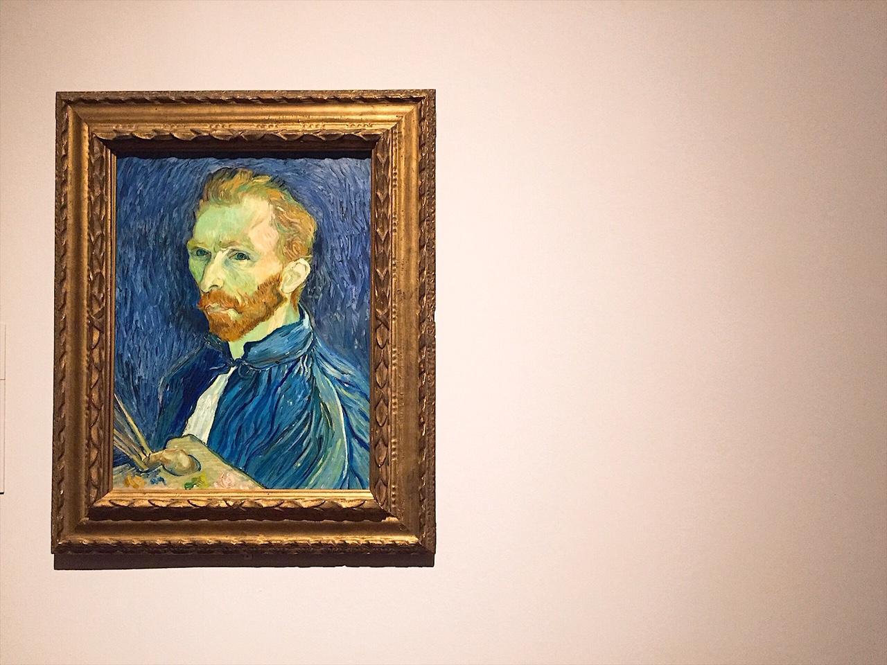 Van Gogh Self-portrait 1889. National Gallery of Art, Washington.