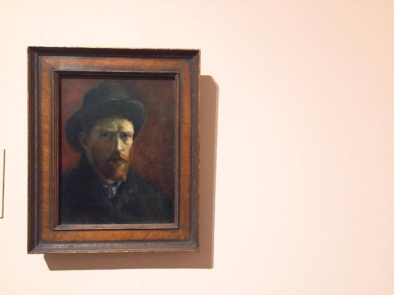 Van Gogh. Self-portrait with Felt hat. 1886-1887. Van Gogh Museum, Amsterdam.
