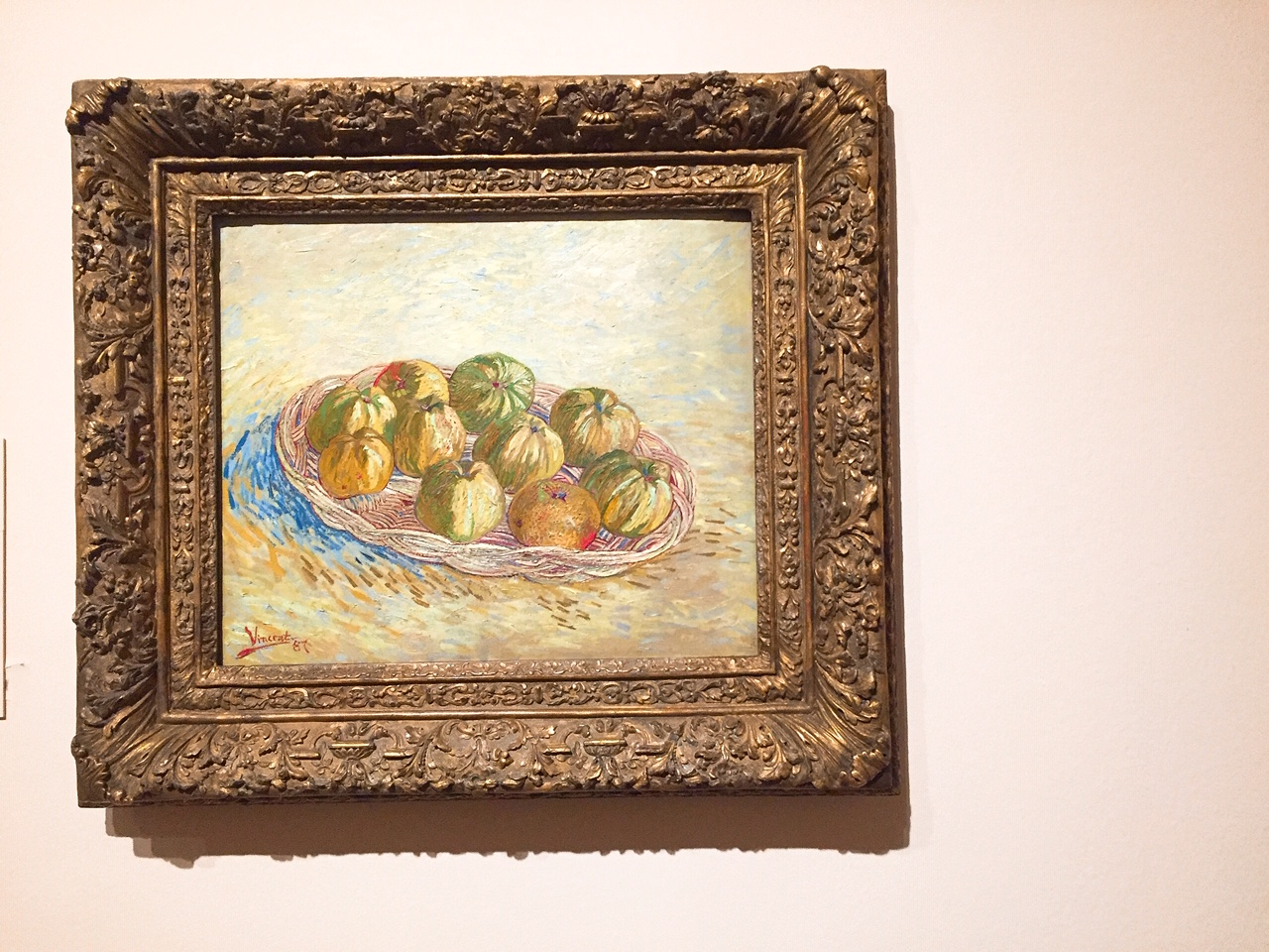 Van Gogh, Still Life, Basket of Apples. 1887. Saint Louis Art Museum.