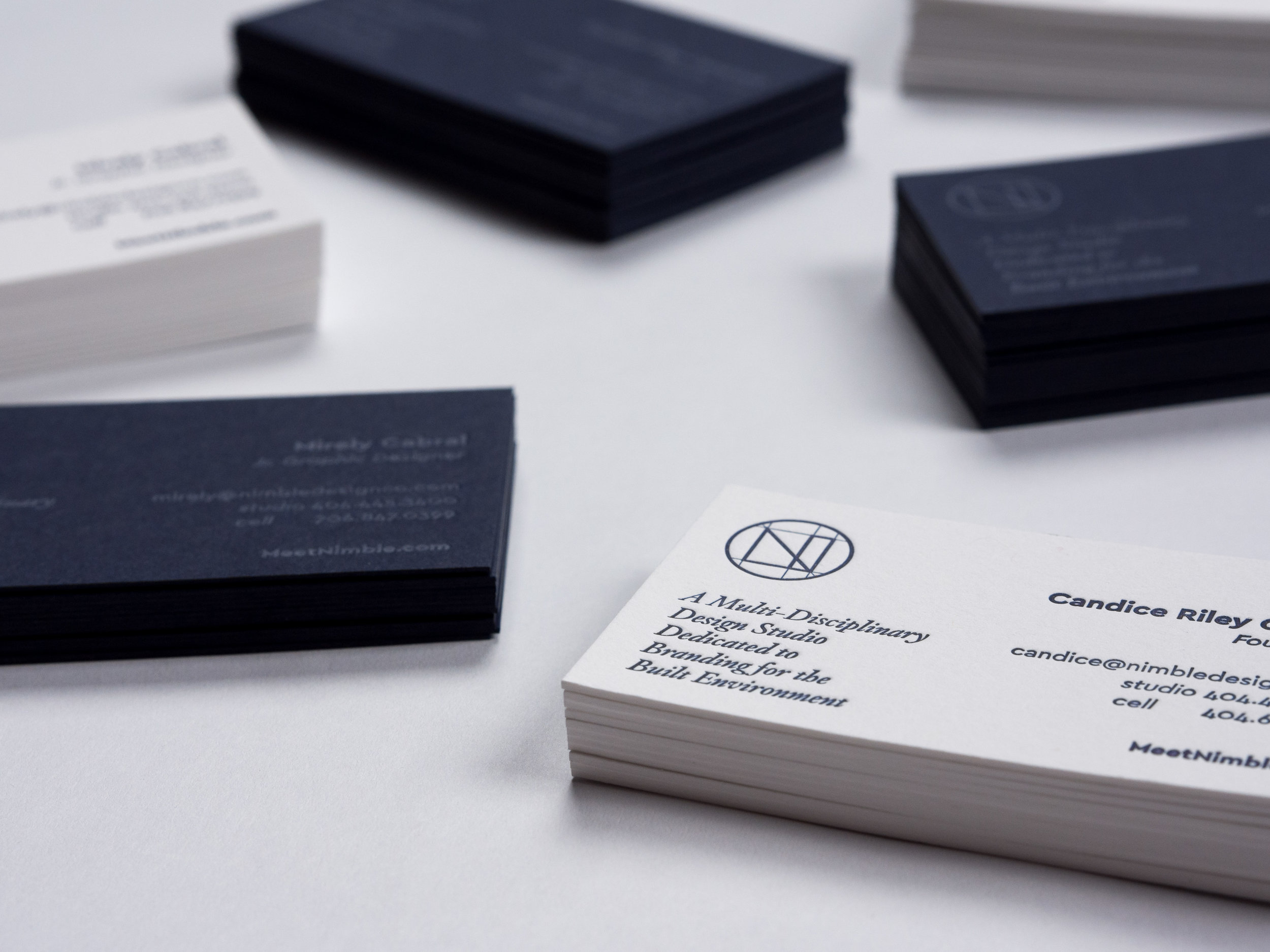 Nimble. Design Co Business Cards |  View Project