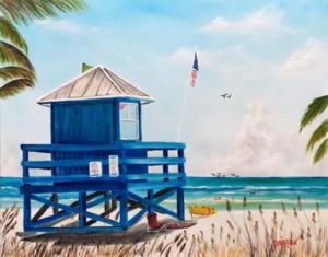 Art_-_150317_-_Siesta_Key_Blue_Lifeguard_Stand_-_16x20-300x235.png