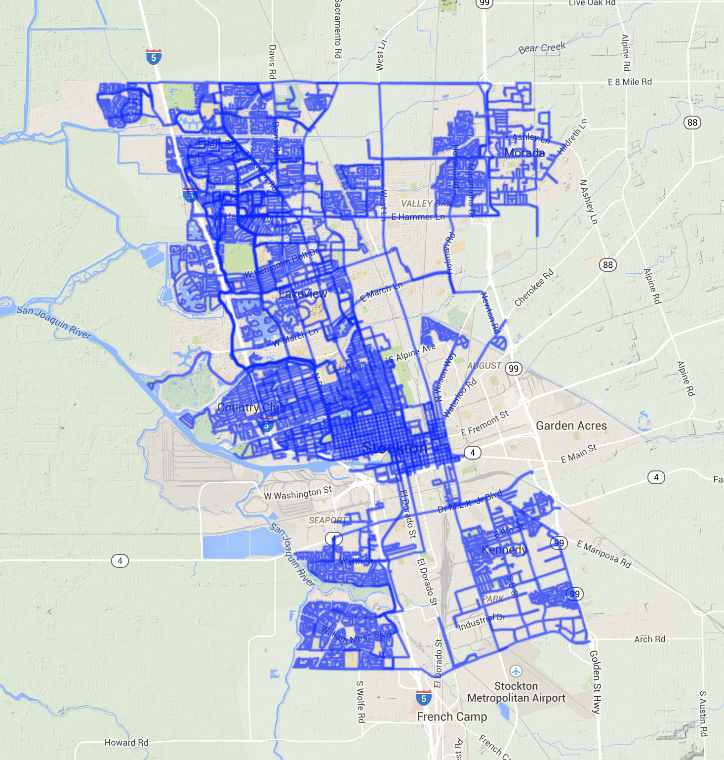 Every street, from 9/27/14 - 11/23/14