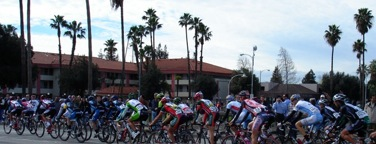 The Amgen Tour of California Riders ride on Center Street in Downtown Stockton