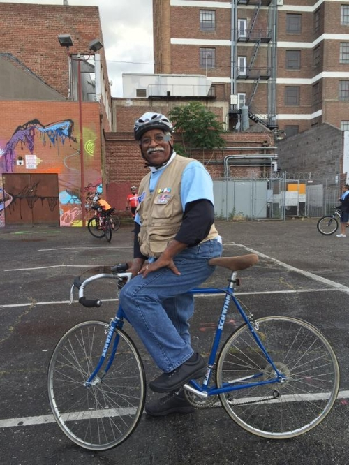 HUB's Deacon Stephen Bentley at a recent Full Moon Riders ride around Downtown Stockton