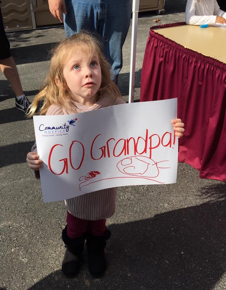 Avery and her sign