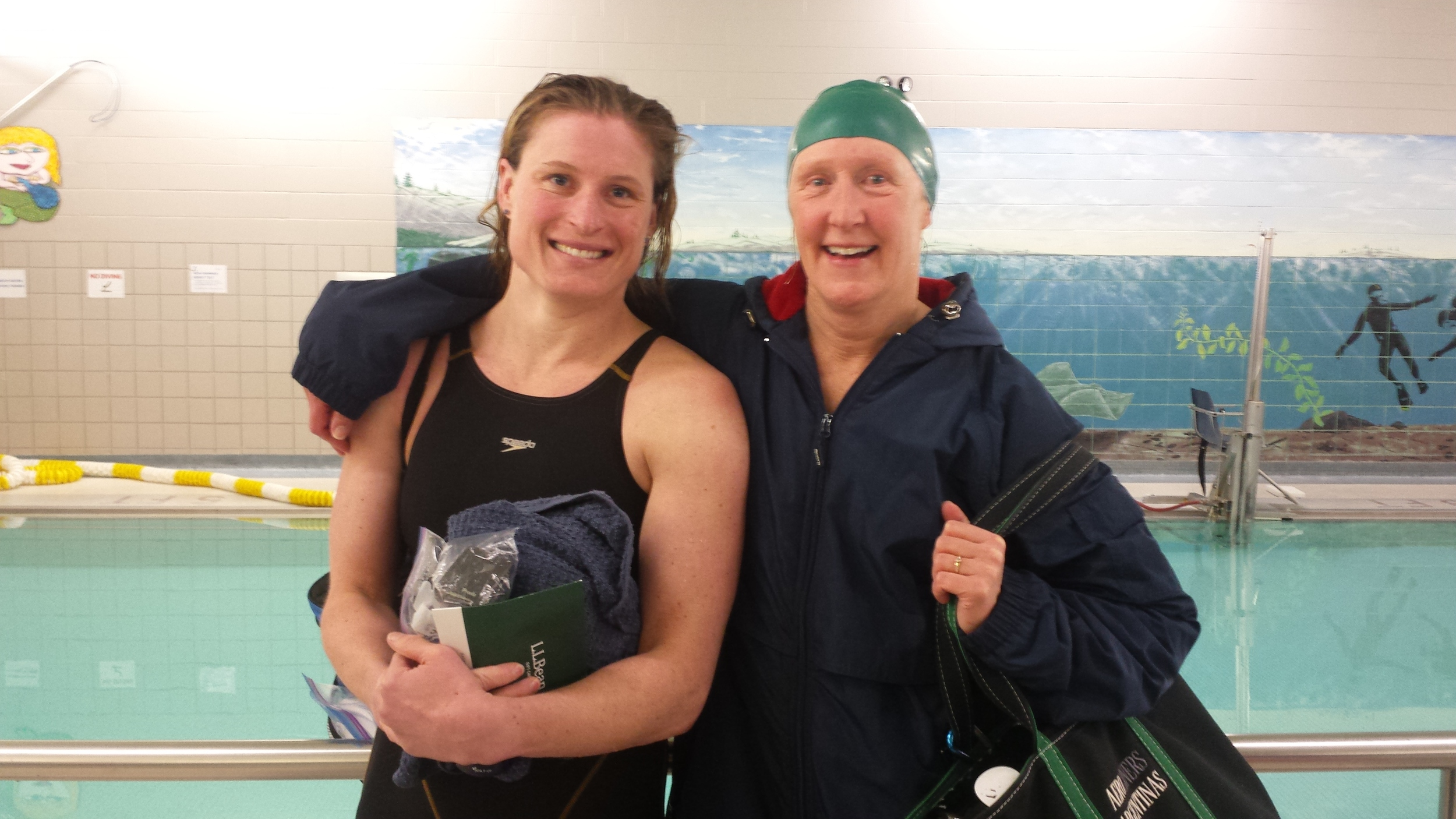 Women's Sprint Challenge winner Katrine Alcaide with 3rd place finisher (and 5-time champ) Mary Estabrook
