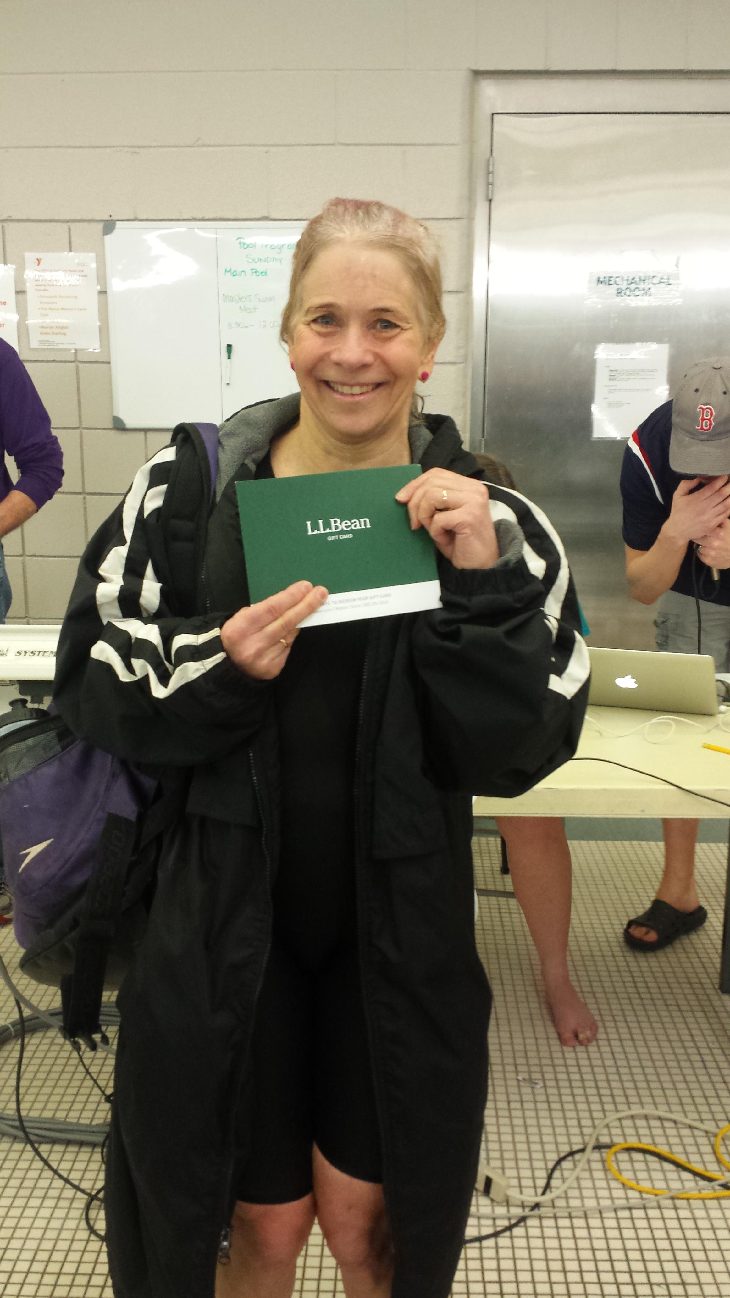 Women's Distance Challenge winner Anne Uecker