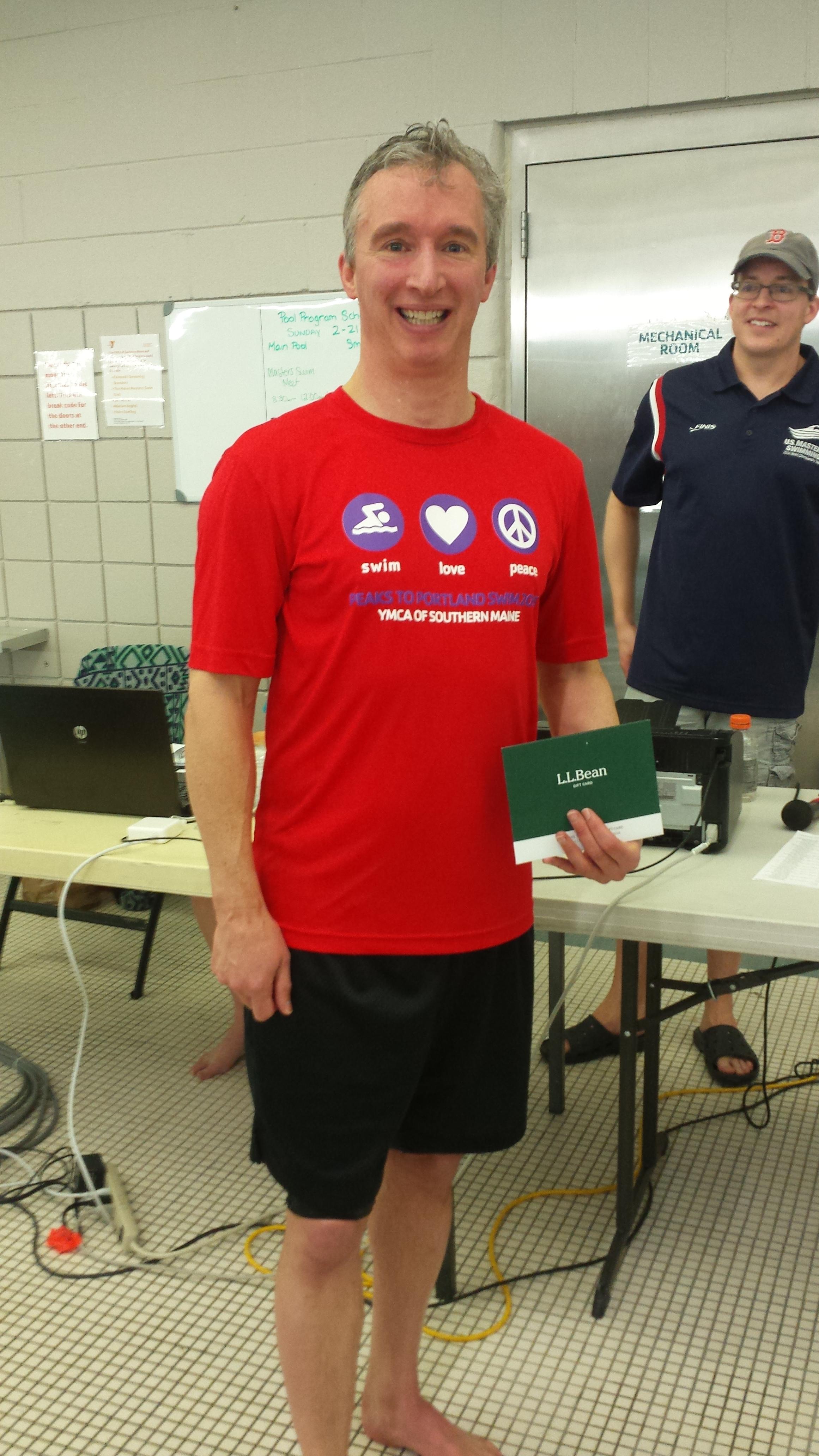 Men's Distance Challenge winner Mike Hurd